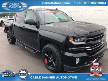 2017 black Chevy Silverado 1500 LTZ Truck 4 Door Automatic EcoTec3 5.3L V8 Engine
