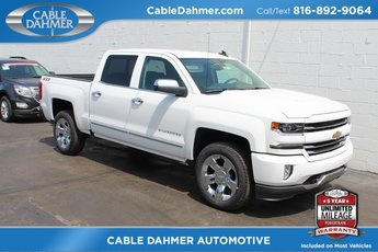 2018 Summit White Chevy Silverado 1500 LTZ EcoTec3 5.3L V8 Flex Fuel Engine 4 Door 4X4 Automatic Truck