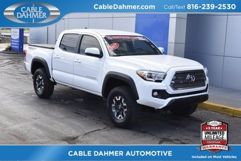2017 Super White Toyota Tacoma TRD Offroad 4 Door Truck Automatic V6 Engine