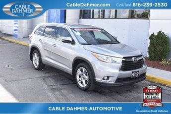 2016 Silver Sky Metallic Toyota Highlander Limited Platinum 3.5L V6 DOHC Dual VVT-i 24V Engine 4 Door AWD Automatic SUV
