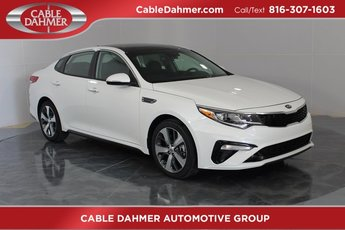 2019 Snow White Pearl Kia Optima S 2.4L 4-Cylinder Engine Automatic 4 Door Sedan
