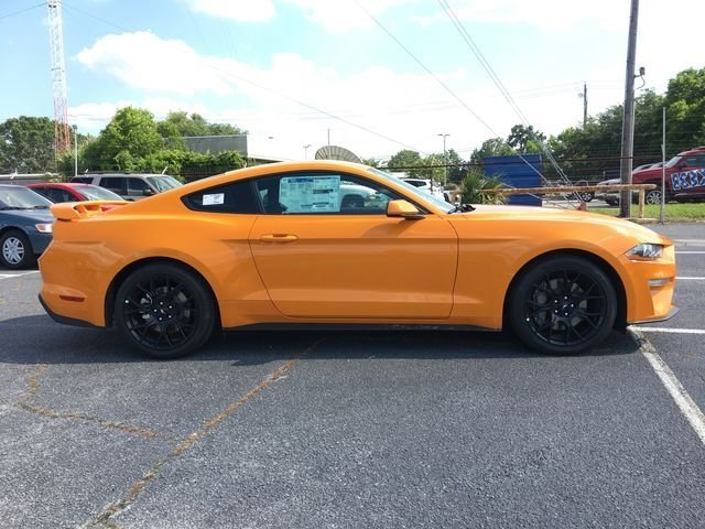 2018 Orange Fury Metallic Tri-Coat Ford Mustang EcoBoost RWD Automatic Coupe 2 Door