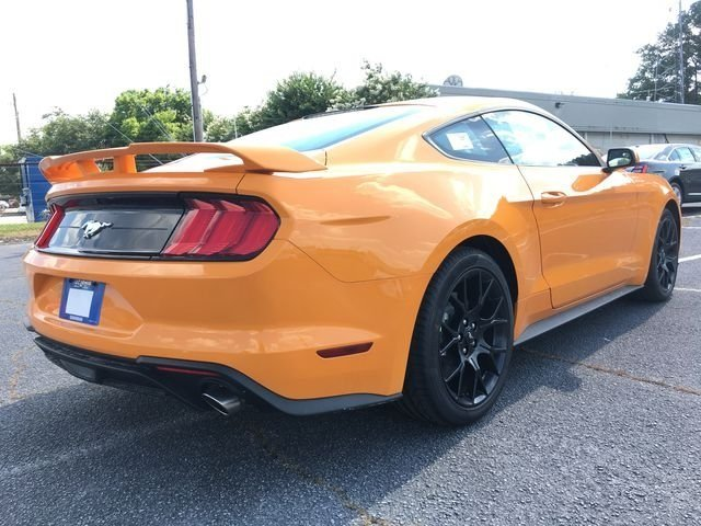 2018 Orange Fury Metallic Tri-Coat Ford Mustang EcoBoost Coupe RWD Automatic