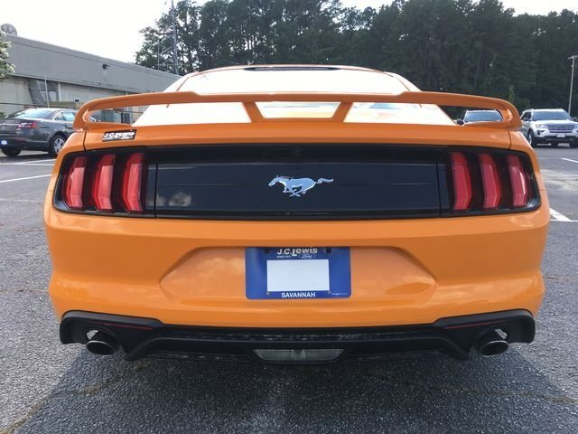 2018 Orange Fury Metallic Tri-Coat Ford Mustang EcoBoost EcoBoost 2.3L I4 GTDi DOHC Turbocharged VCT Engine RWD Automatic Coupe