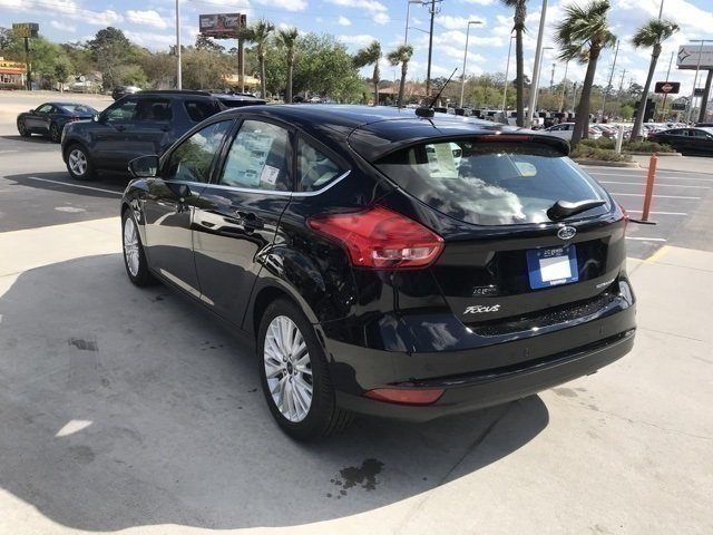2018 Shadow Black Ford Focus Titanium 4 Door FWD Hatchback Automatic