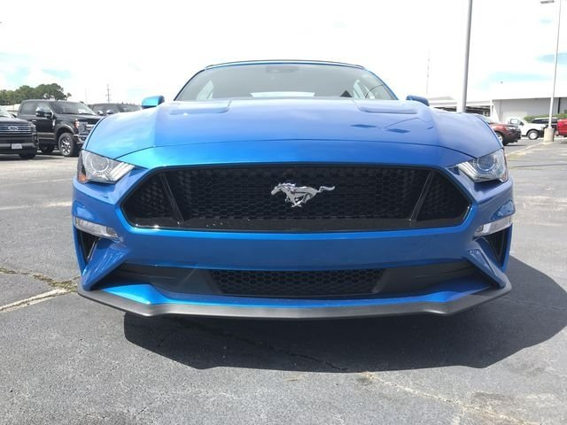 2019 Blue Metallic Ford Mustang GT Premium Convertible RWD 5.0L V8 Ti-VCT Engine 2 Door