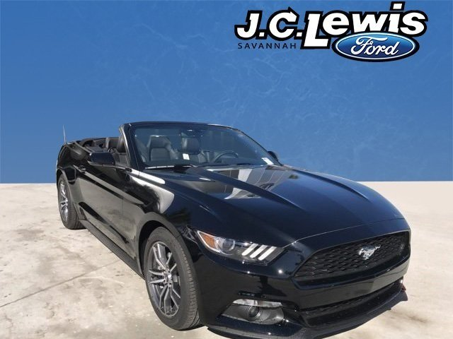 2017 Shadow Black Ford Mustang EcoBoost Premium RWD Convertible 2 Door EcoBoost 2.3L I4 GTDi DOHC Turbocharged VCT Engine