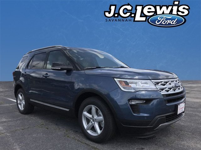 2018 Blue Metallic Ford Explorer XLT SUV 4 Door FWD