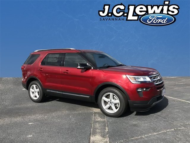 2018 Ruby Red Metallic Tinted Clearcoat Ford Explorer XLT 4 Door Automatic SUV