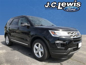 2018 Shadow Black Ford Explorer XLT FWD 4 Door SUV 2.3L I4 Engine