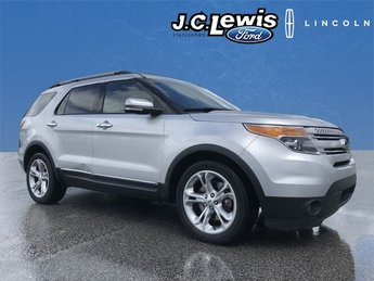 2013 Ingot Silver Metallic Ford Explorer Limited Automatic 4 Door FWD 3.5L 6-Cylinder SMPI DOHC Engine SUV