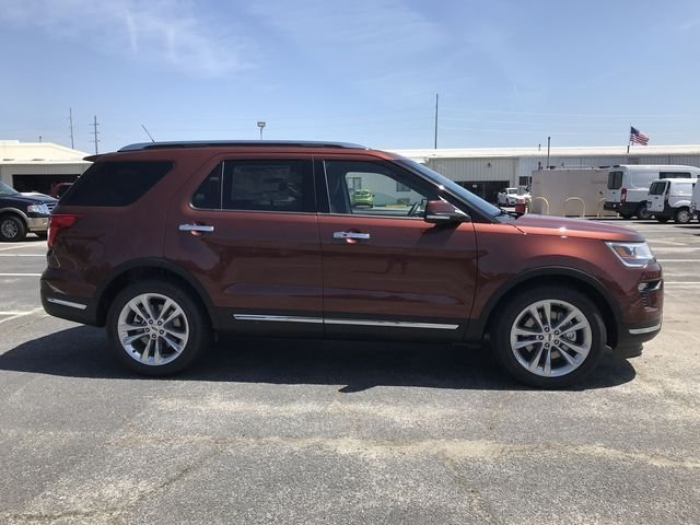 2018 Cinnamon Glaze Metallic Ford Explorer Limited SUV Automatic FWD 3.5L V6 Ti-VCT Engine