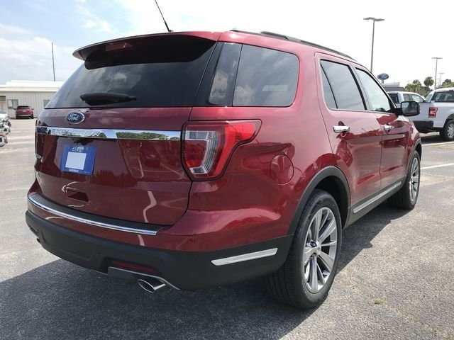 2018 Ruby Red Metallic Tinted Clearcoat Ford Explorer Limited 3.5L V6 Ti-VCT Engine 4 Door FWD SUV Automatic