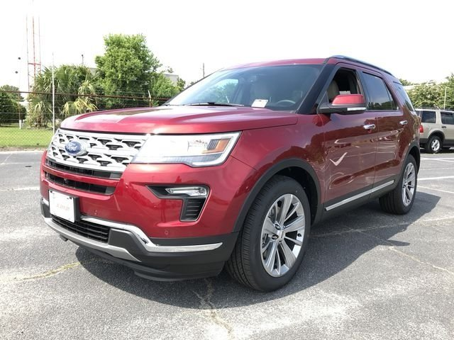 2018 Ruby Red Metallic Tinted Clearcoat Ford Explorer Limited SUV FWD Automatic 3.5L V6 Ti-VCT Engine