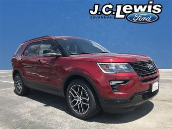 2018 Ruby Red Metallic Tinted Clearcoat Ford Explorer Sport Automatic 3.5L Engine 4 Door SUV
