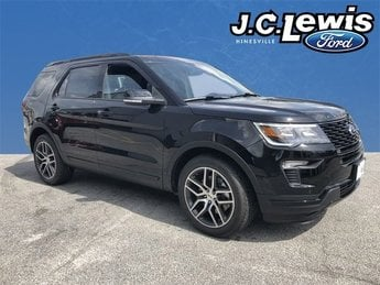 2018 Shadow Black Ford Explorer Sport 4X4 Automatic 3.5L Engine 4 Door