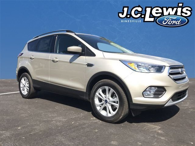 2018 White Gold Metallic Ford Escape SE 4 Door FWD EcoBoost 1.5L I4 GTDi DOHC Turbocharged VCT Engine SUV