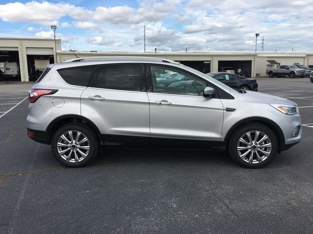 2018 Ingot Silver Metallic Ford Escape Titanium EcoBoost 2.0L I4 GTDi DOHC Turbocharged VCT Engine SUV FWD Automatic 4 Door