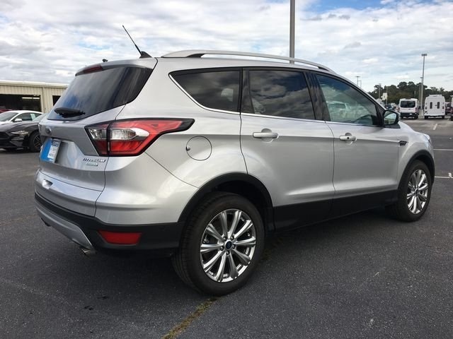 2018 Ingot Silver Metallic Ford Escape Titanium 4 Door FWD EcoBoost 2.0L I4 GTDi DOHC Turbocharged VCT Engine SUV Automatic