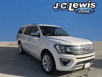 2018 White Metallic Ford Expedition Max Platinum EcoBoost 3.5L V6 GTDi DOHC 24V Twin Turbocharged Engine SUV 4 Door Automatic