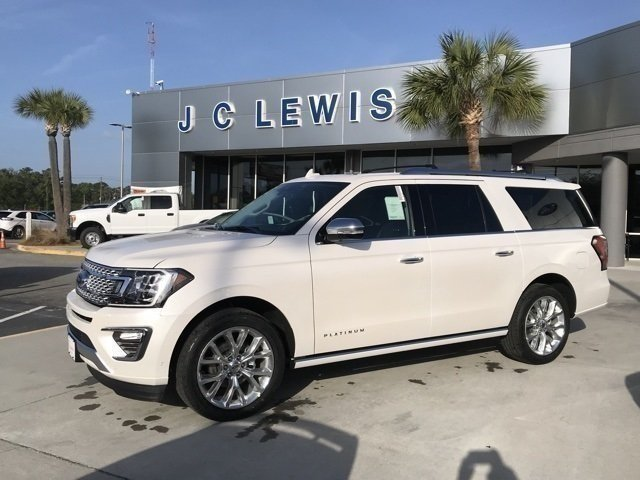 2018 White Metallic Ford Expedition Max Platinum Automatic EcoBoost 3.5L V6 GTDi DOHC 24V Twin Turbocharged Engine 4 Door RWD SUV