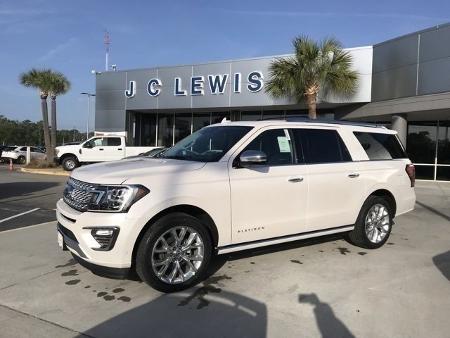 2018 White Metallic Ford Expedition Max Platinum EcoBoost 3.5L V6 GTDi DOHC 24V Twin Turbocharged Engine RWD 4 Door Automatic