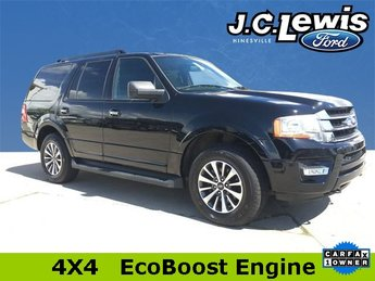 2017 Shadow Black Ford Expedition XLT EcoBoost 3.5L V6 GTDi DOHC 24V Twin Turbocharged Engine 4 Door 4X4 Automatic