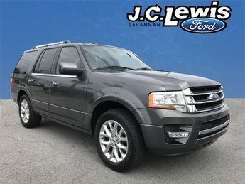 2015 Gray Ford Expedition Limited RWD 4 Door Automatic EcoBoost 3.5L V6 GTDi DOHC 24V Twin Turbocharged Engine SUV