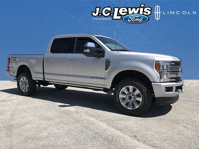 2018 Ingot Silver Metallic Ford Super Duty F-250 SRW Platinum Truck 4 Door 4X4 Power Stroke 6.7L V8 DI 32V OHV Turbodiesel Engine Automatic