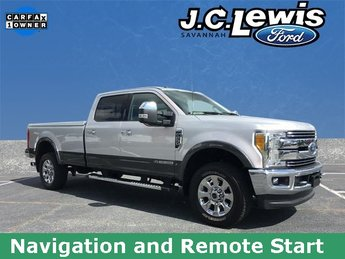 2017 Ford Super Duty F-250 SRW Lariat 4 Door Truck 4X4 Power Stroke 6.7L V8 DI 32V OHV Turbodiesel Engine Automatic