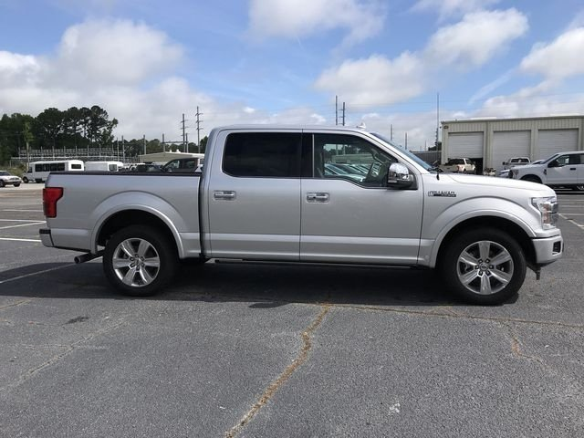 2018 Ingot Silver Metallic Ford F-150 Platinum Truck Automatic EcoBoost 3.5L V6 GTDi DOHC 24V Twin Turbocharged Engine 4 Door