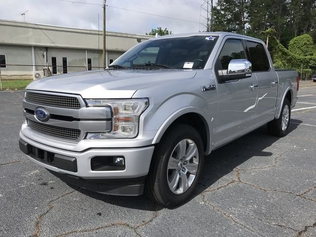 2018 Ingot Silver Metallic Ford F-150 Platinum EcoBoost 3.5L V6 GTDi DOHC 24V Twin Turbocharged Engine Truck Automatic RWD 4 Door