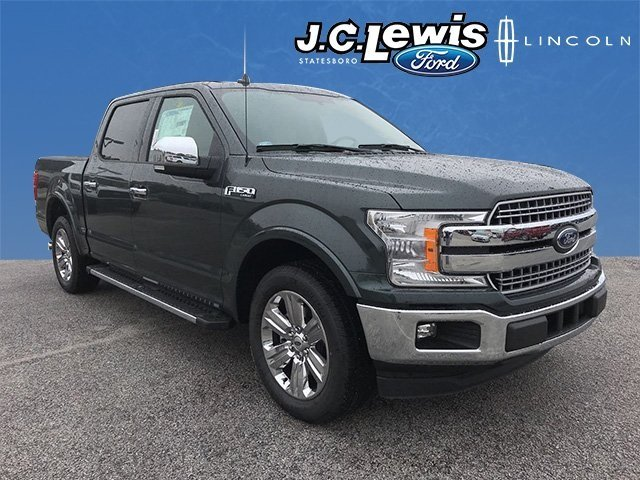 2018 Guard Metallic Ford F-150 Lariat RWD EcoBoost 3.5L V6 GTDi DOHC 24V Twin Turbocharged Engine Truck