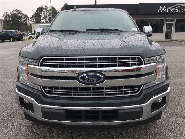 2018 Guard Metallic Ford F-150 Lariat Truck EcoBoost 3.5L V6 GTDi DOHC 24V Twin Turbocharged Engine RWD 4 Door