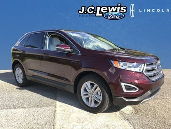 2018 Burgundy Velvet Metallic Tinted Clearcoat Ford Edge SEL SUV EcoBoost 2.0L I4 GTDi DOHC Turbocharged VCT Engine 4 Door