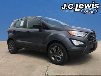 2018 Smoke Metallic Ford EcoSport S FWD 4 Door EcoBoost 1.0L I3 GTDi DOHC Turbocharged VCT Engine SUV Automatic