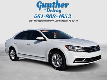 2017 Pure White Volkswagen Passat 1.8T S 4 Door Automatic Sedan
