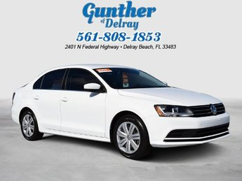 2017 Pure White Volkswagen Jetta 1.4T S 4 Door FWD Sedan