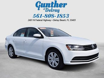 2017 Pure White Volkswagen Jetta 1.4T S Automatic FWD Intercooled Turbo Regular Unleaded I-4 1.4 L/85 Engine