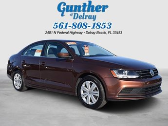 2017 Dark Bronze Metallic Volkswagen Jetta 1.4T S Automatic Intercooled Turbo Regular Unleaded I-4 1.4 L/85 Engine Sedan FWD