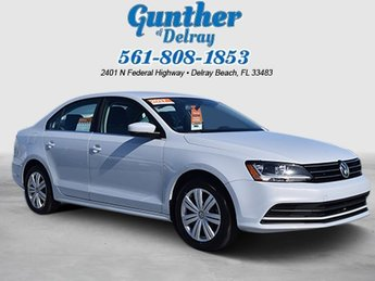 2017 Volkswagen Jetta 1.4T S 4 Door FWD Intercooled Turbo Regular Unleaded I-4 1.4 L/85 Engine Automatic