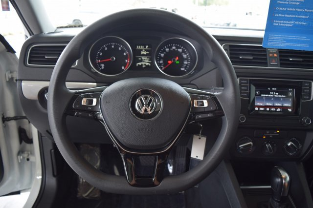 2017 Pure White Volkswagen Jetta 1.4T S Sedan 4 Door Intercooled Turbo Regular Unleaded I-4 1.4 L/85 Engine FWD
