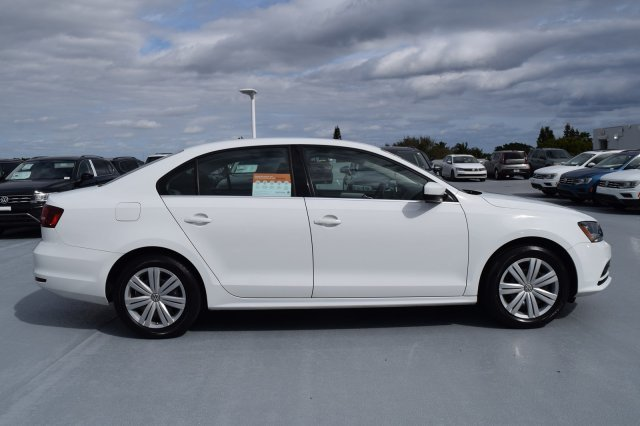 2017 Pure White Volkswagen Jetta 1.4T S FWD Automatic 4 Door Sedan Intercooled Turbo Regular Unleaded I-4 1.4 L/85 Engine