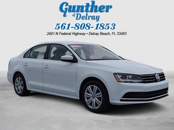 2017 Pure White Volkswagen Jetta 1.4T S Automatic Sedan Intercooled Turbo Regular Unleaded I-4 1.4 L/85 Engine 4 Door FWD