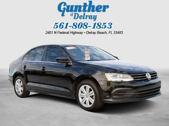 2017 Black Volkswagen Jetta 1.4T S FWD Automatic Sedan 4 Door Intercooled Turbo Regular Unleaded I-4 1.4 L/85 Engine