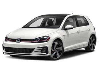 2020 Pure White Volkswagen Golf GTI SE Hatchback 4 Door Automatic Intercooled Turbo Premium Unleaded I-4 2.0 L/121 Engine