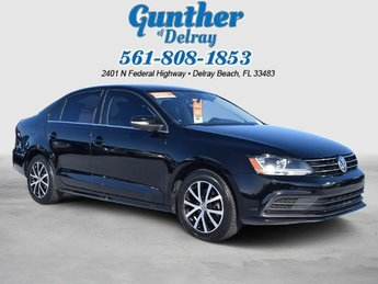 2017 Black Volkswagen Jetta 1.4T SE Sedan Automatic 4 Door FWD Intercooled Turbo Regular Unleaded I-4 1.4 L/85 Engine