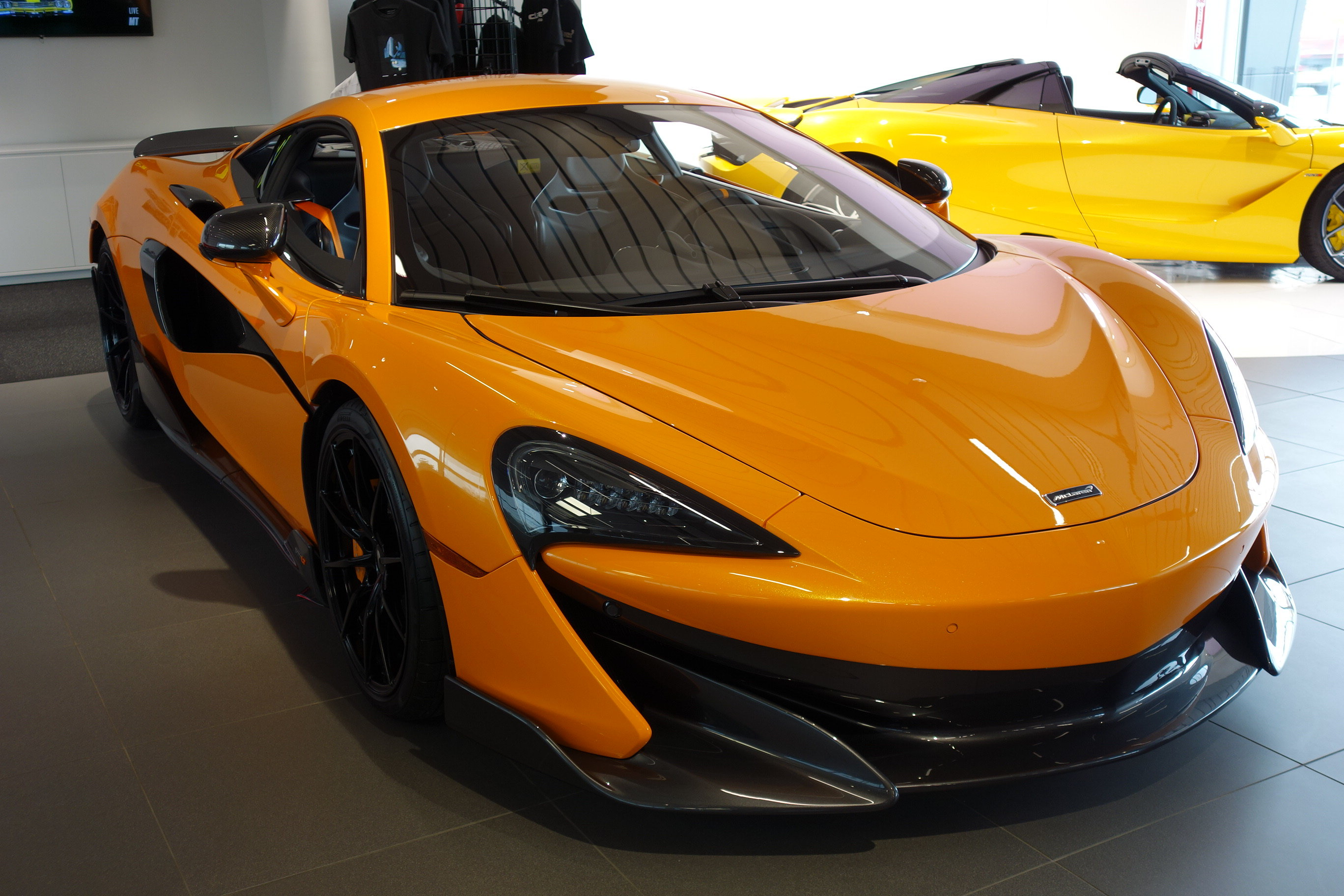 2019 Papaya Spark McLaren 600LT Coupe Automatic 3.8L V8 Twin Turbocharged Engine