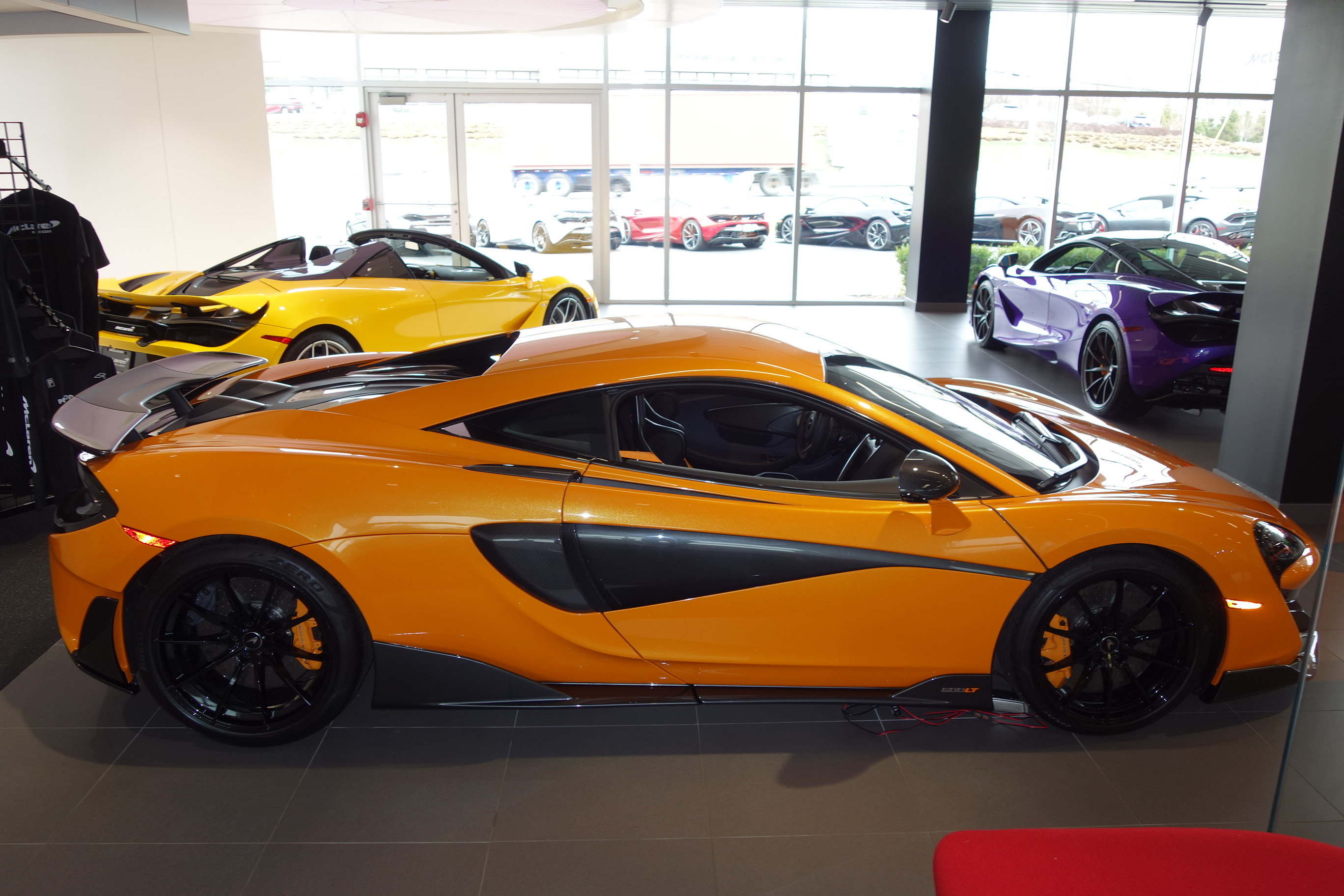 2019 Papaya Spark McLaren 600LT Coupe 3.8L V8 Twin Turbocharged Engine Automatic
