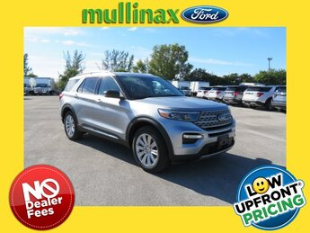 2021 Iconic Silver Metallic Ford Explorer Limited RWD Automatic SUV 4 Door